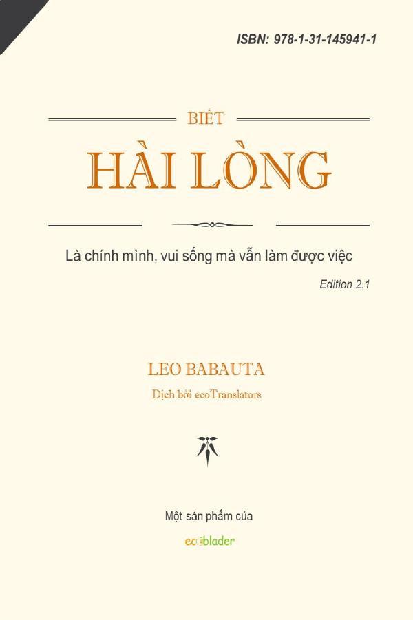 Biết Hài Lòng – Leo Babauta