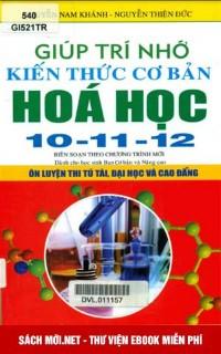 Giúp Trí Nhớ Kiến Thức Cơ bản Hóa Học 10-11-12