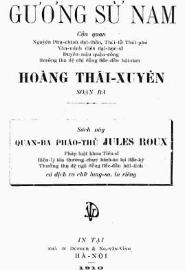 Gương Sử Nam – Hoàng Thái Xuyên