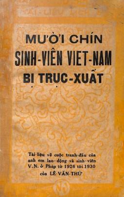 Mười Chín Sinh Viên Việt Nam Bị Trục Xuất – Lê Văn Thử