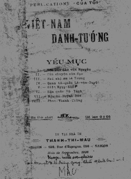 Việt Nam Danh Tướng Yếu Mục – Vương Quang