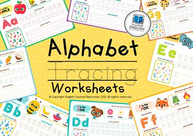 Alphabet Tracing Activity Book