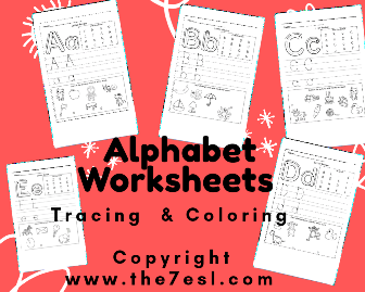Alphabet Worksheets Tracing & Coloring