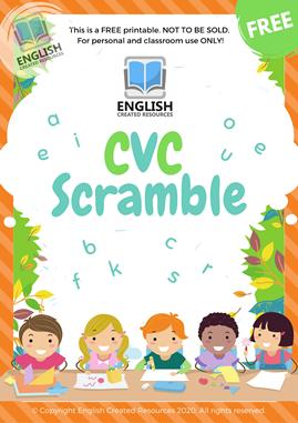 CVC Scramble Worksheets