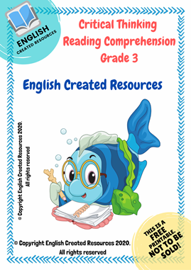Critical Thinking Reading Comprehension Grade 3 Worksheets