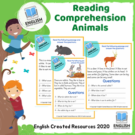 Reading Comprehension For Kids (  Animals )
