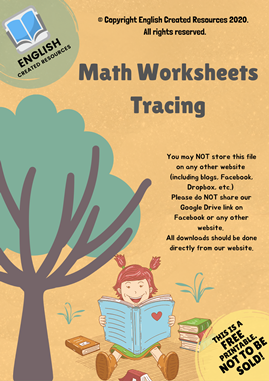Maths Worksheet Numbers Tracing
