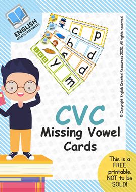 CVC Missing Vowel Cards