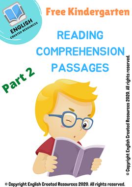 Kindergarten Reading Comprehension Part 2
