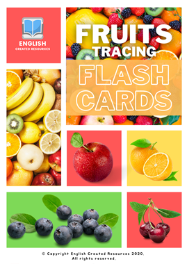 Fruits Tracing Flashcards