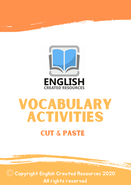 Vocabulary Activities Cut and Paste