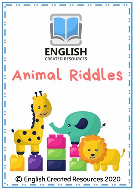Vocabulary Activities Animal Riddles