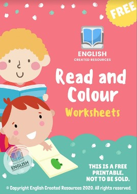 Coloring Worksheets for Kids ( Read and Color )