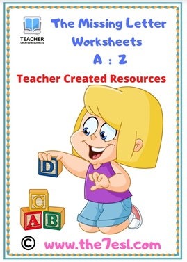 The Missing Letter Worksheets A  :  Z