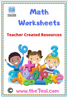 Math Worksheets (  Add – Subtract – Trace – Color )