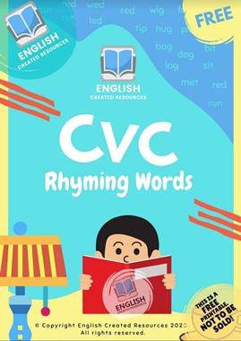 CVC Rhyming Words Activities