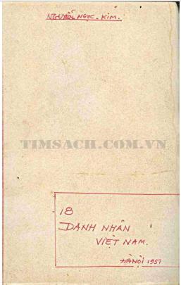 18 Danh Nhân Việt Nam