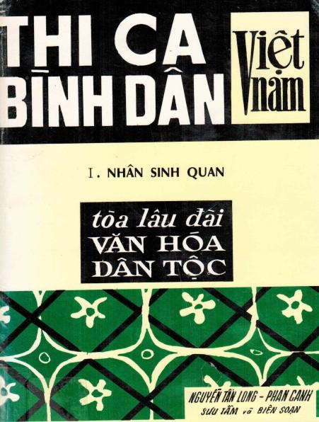 Thi ca bình dân Việt Nam Quyển 1 Nhân sinh quan